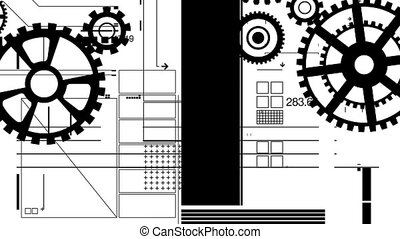 mono, mécanique, boucle, hd, graphiques