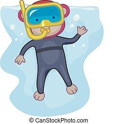 mono, snorkeling