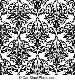 mono stark repeat - Black and white seamless repeat design...