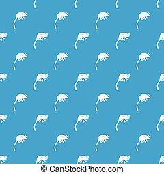 mono tití, patrón, mono azul, seamless