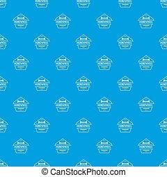 Mono wheel pattern seamless blue