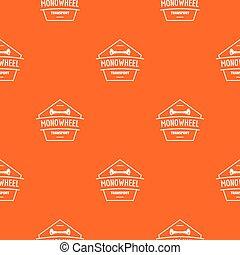 Mono wheel pattern vector orange