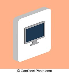 Monoblock PC computer symbol