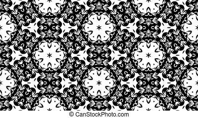 Monochromatic kaleidoscopic background. Seamless loop HD