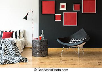 Monochromatic simple bedroom