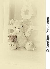 Monochromatic teddy bear
