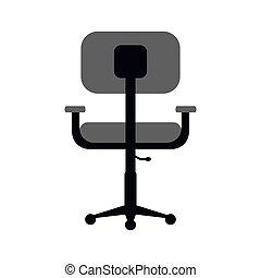 monochromatique, bureau, confort, conception, lieu travail, chaise