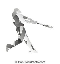 monochromatique, joueur, résumé, base-ball