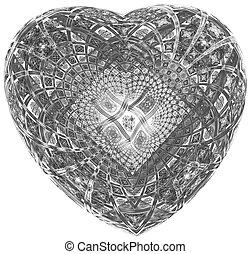 Monochrome abstract fractal illustration