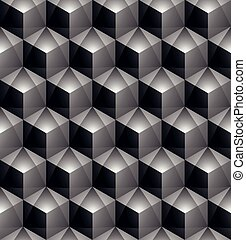 Monochrome abstract geometric