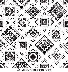 Monochrome abstract geometric pattern