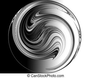 monochrome abstract yin yang symbol