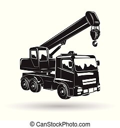 Monochrome auto crane icon