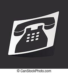 monochrome, autocollant, téléphone