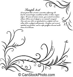 Monochrome background with floral e