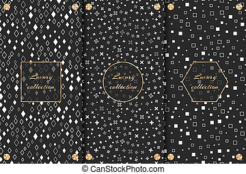 Monochrome backgrounds for packaging - Collection of...