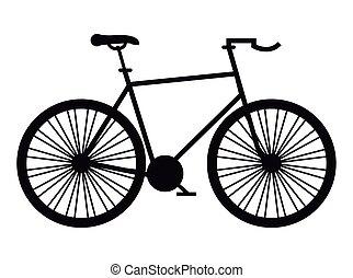 monochrome bike race