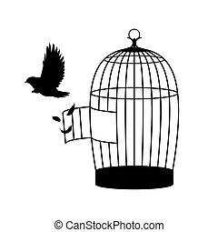 Monochrome Bird Silhouette Concept - Monochrome bird...
