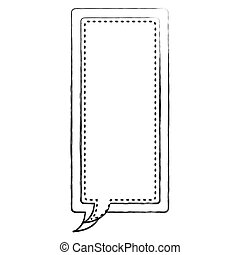 monochrome blurred contour of large rectangle frame callout...