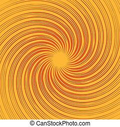 (monochrome), bunte, hintergrund., abstrakt, pattern., drehen, linien, verbogen, strahlig, wirbel, rotation, verzerrt, spirale