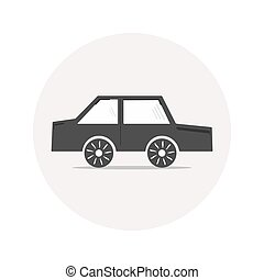 Monochrome car icon - Monochrome simple car icon for your...