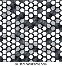 monochrome cell seamless pattern