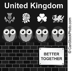 United Kingdom - Monochrome comical United Kingdom better...