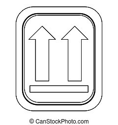 monochrome contour logistic with icon this side up