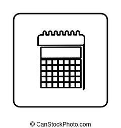 monochrome contour square with calendar icon