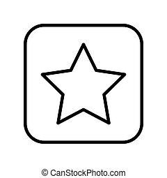 monochrome contour square with star icon
