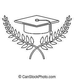 graduation border black and white