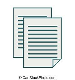 monochrome contour with document file