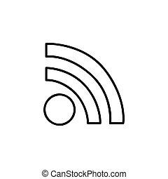 monochrome contour with wifi icon