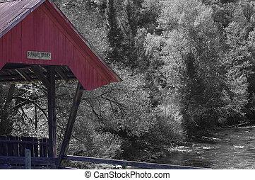 Monochrome Covered Bridge - Randall bridge done in ...
