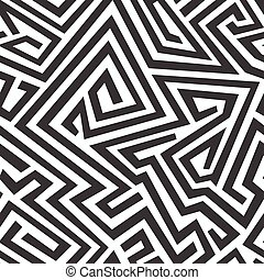 monochrome curved seamless pattern
