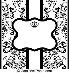 Monochrome Decoration Frame - Illustration vector