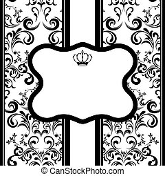 Monochrome Decoration Frame - Illustration vector