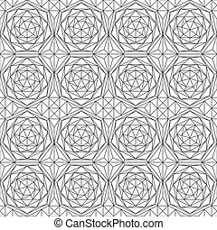 monochrome diamond seamless pattern
