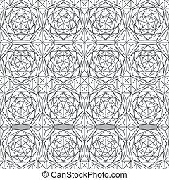 monochrome diamond seamless pattern