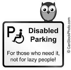 Disabled Parking - Monochrome Disabled Parking sign isolated...