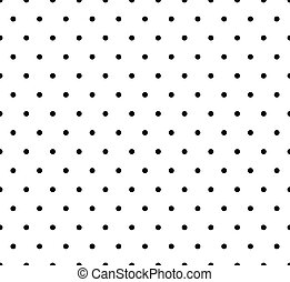 Monochrome dotted, polka dot pattern. Seamless vector.