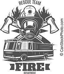Monochrome Firefighting Template - Monochrome firefighting...