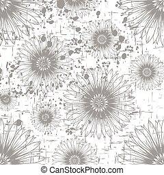 monochrome flower background