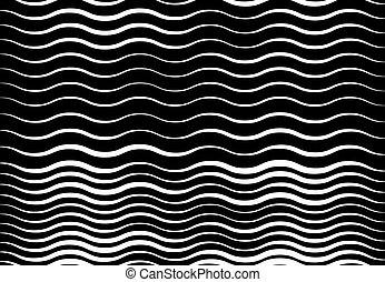 monochrome, fond, effect., grayscale, lignes, résumé, lignes, stripes., blanc, onduler, squiggly, noir, houleux, squiggle, torsade, texture, ondulant, ondulé, toile de fond, modèle