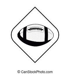 monochrome frame with football ball