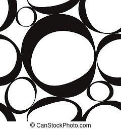 monochrome, géométrique, seamless, modèle
