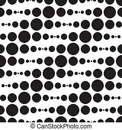 Monochrome Geometric Pattern - Vector Abstract Monochrome...