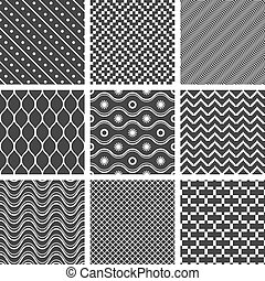 Monochrome geometric seamless textures