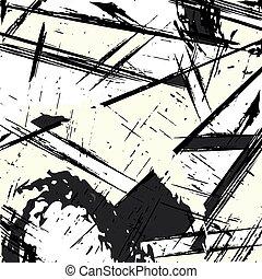 monochrome graffiti pattern for your design