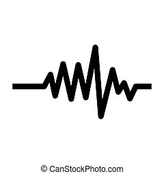 monochrome heart beat monitor pulse line